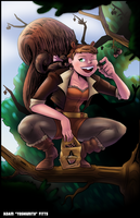 Squirrel Girl and Tippy Toe by YoshiUnity