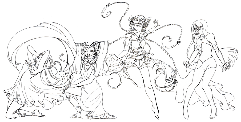 Suvi Characters, Enchantix Linearts by Silencelabyrinth