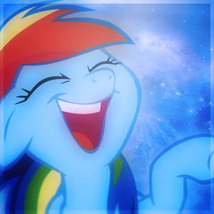 Rainbow Dash Laughing Avatar by SandwichDelta