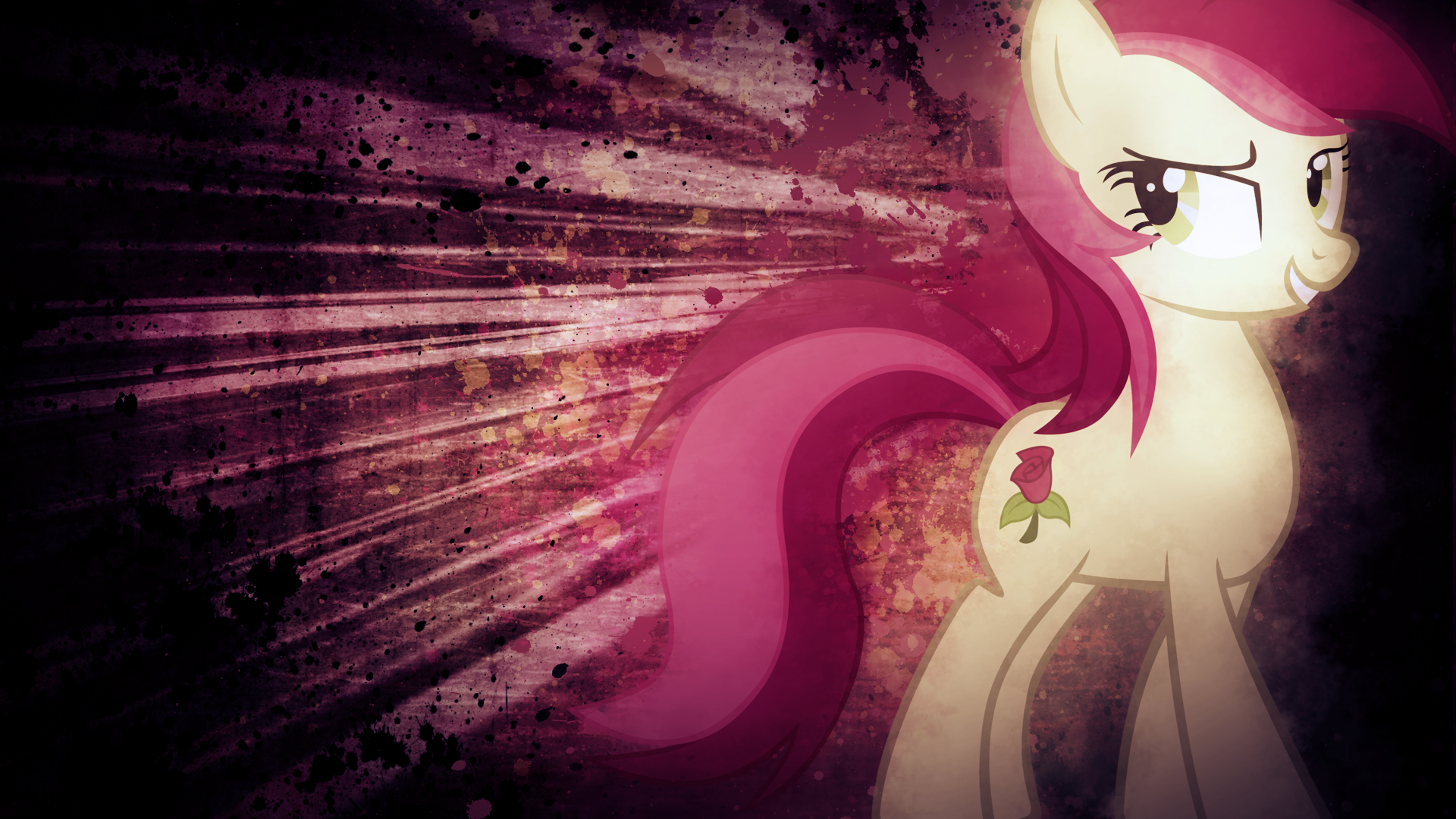 Smug Roseluck Wallpaper by SandwichDelta