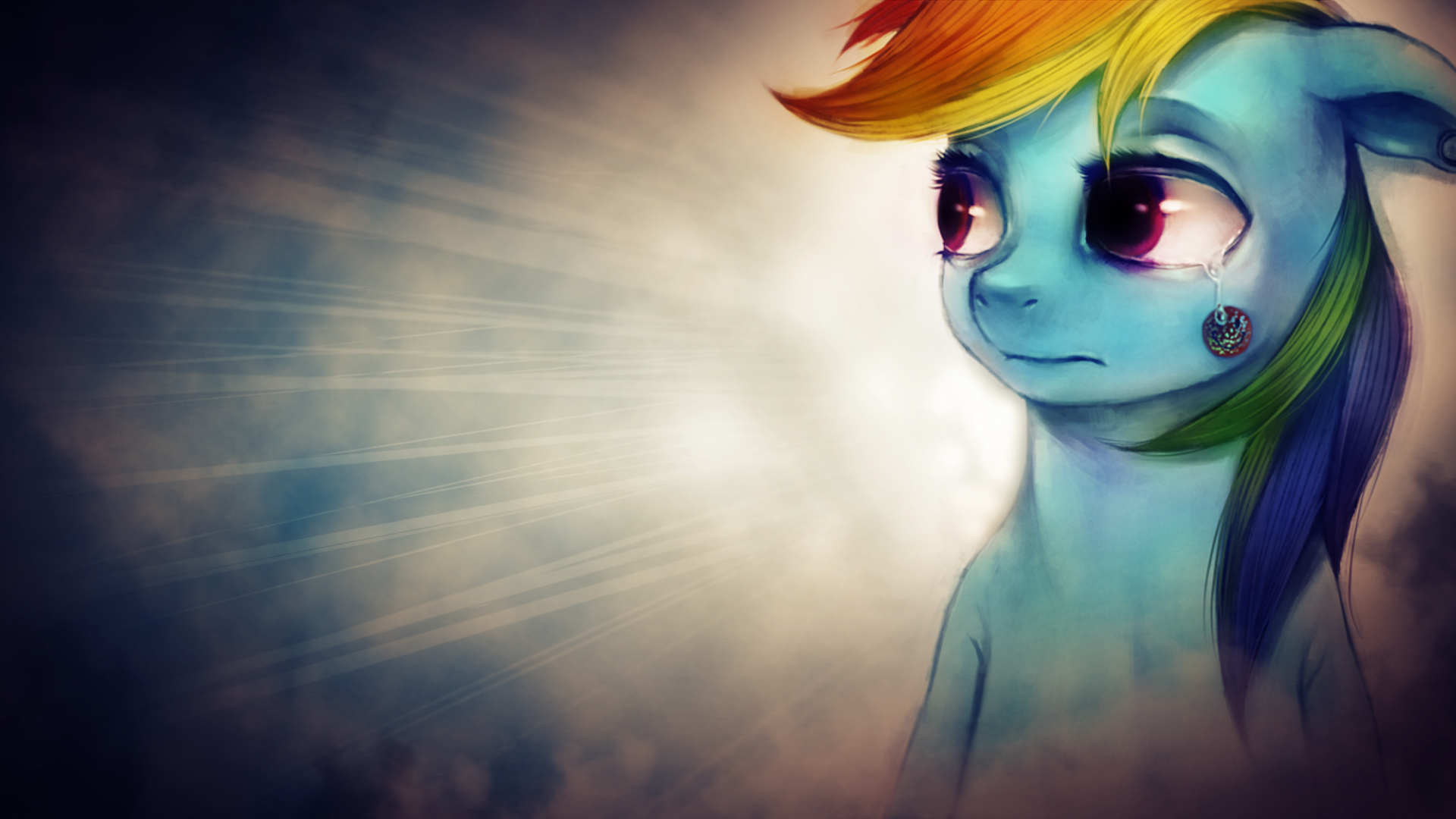 Rainbow Dash emulating Wallpaper by SandwichDelta