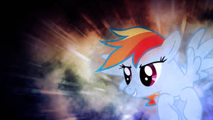 Rainbow Dash Flying Wallpaper by SandwichHorseArchive