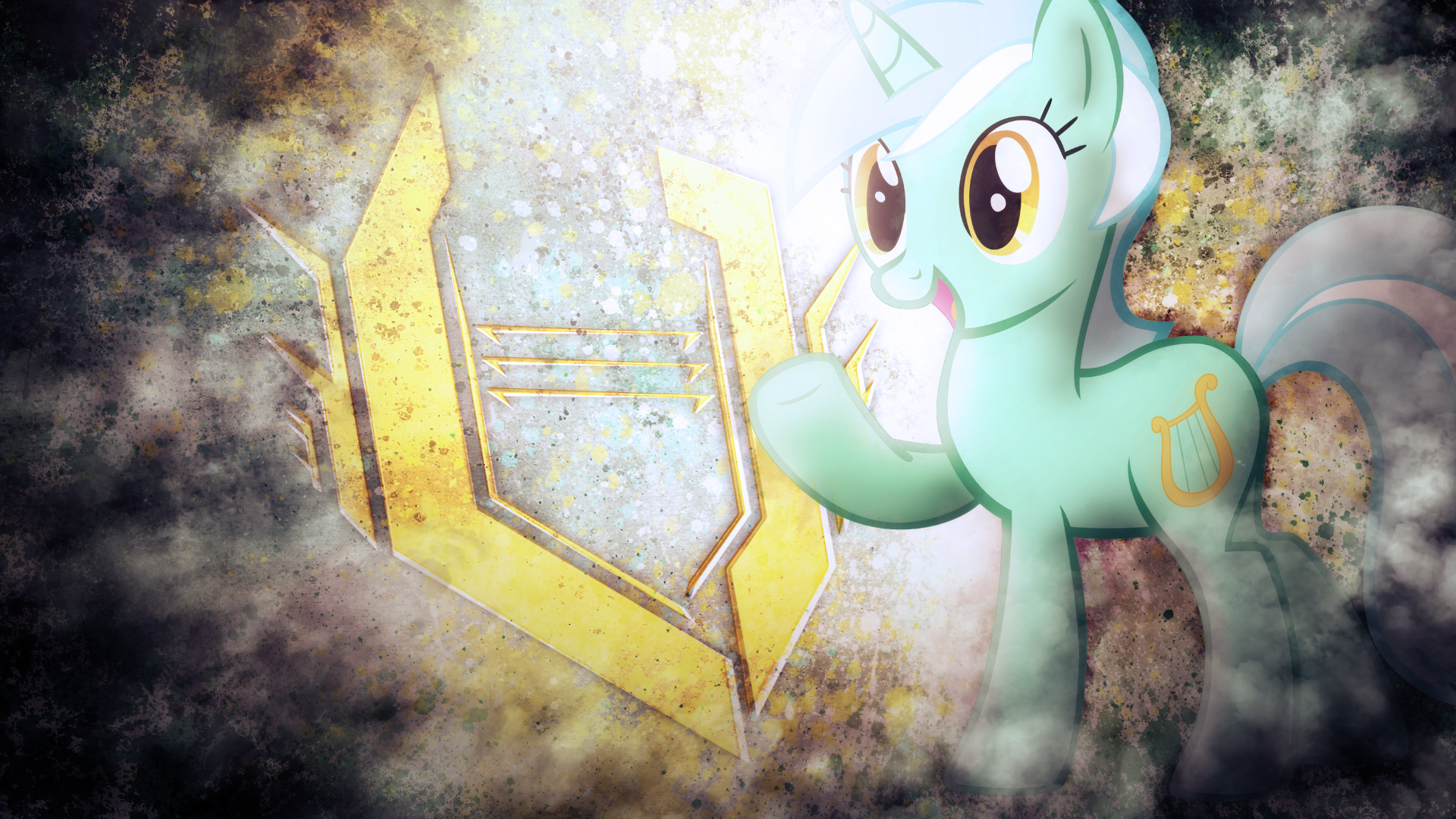 SUPER EPIC LYRA GRUNGE TECH POWER WALLPAPER by SandwichDelta