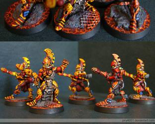 Eldar Fire Dragons by jory4001