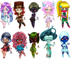 Chibi Adopts Auction ( points ) ( OPEN ) by Myrrael