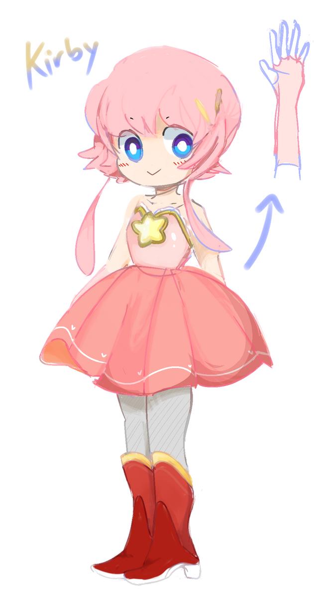 Kirby Gijinka by bubblegum-party on DeviantArt