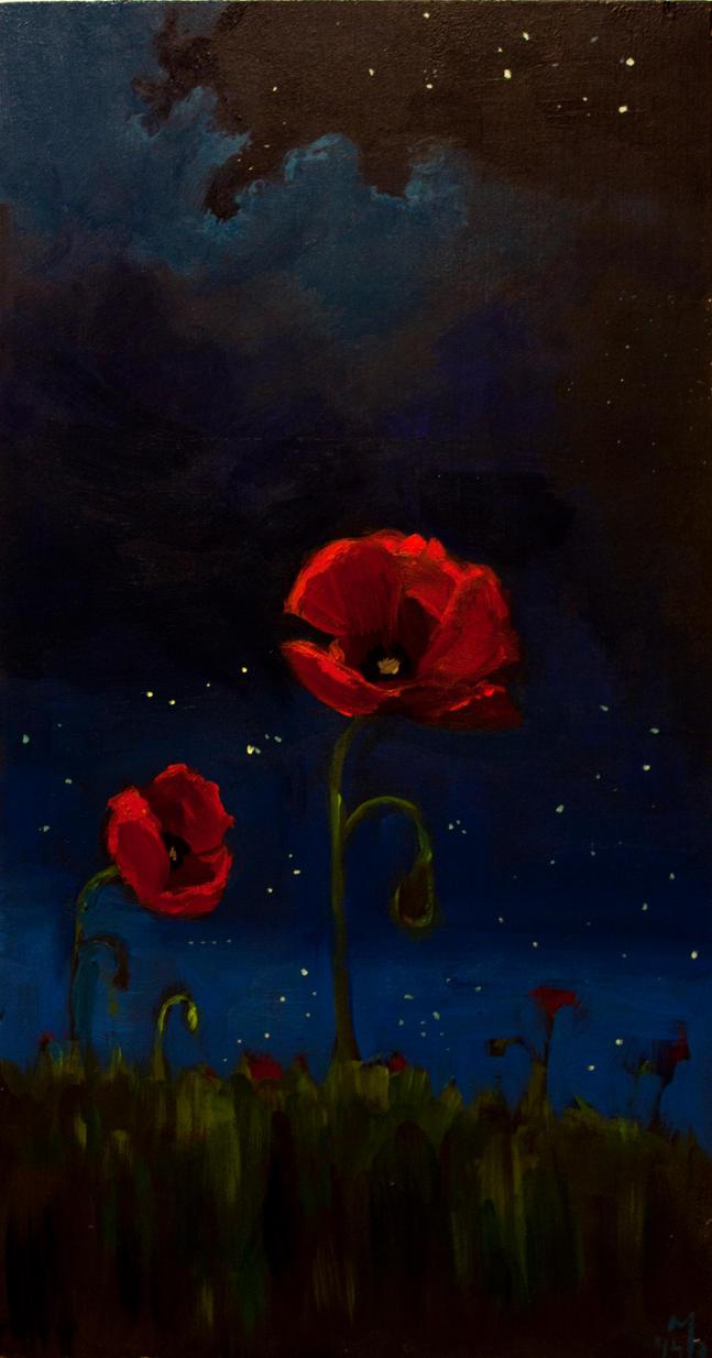 Night Poppy by MarthaDeAth