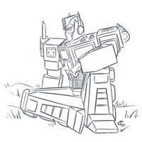 Optimus Prime by iloverichard