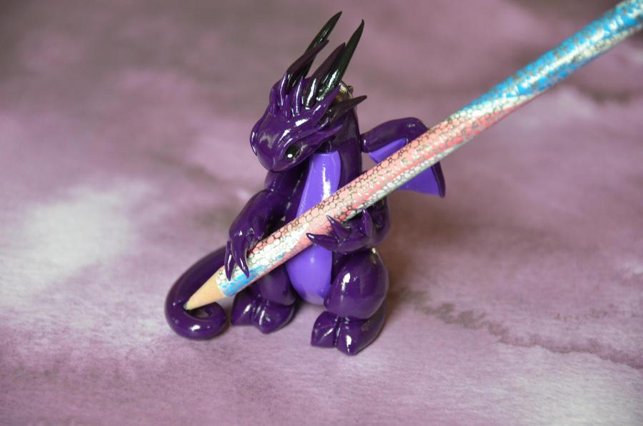 Purple Dragon Pencil Holder by redninjacreations