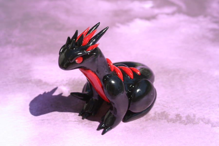Black and Red Dragon by redninjacreations