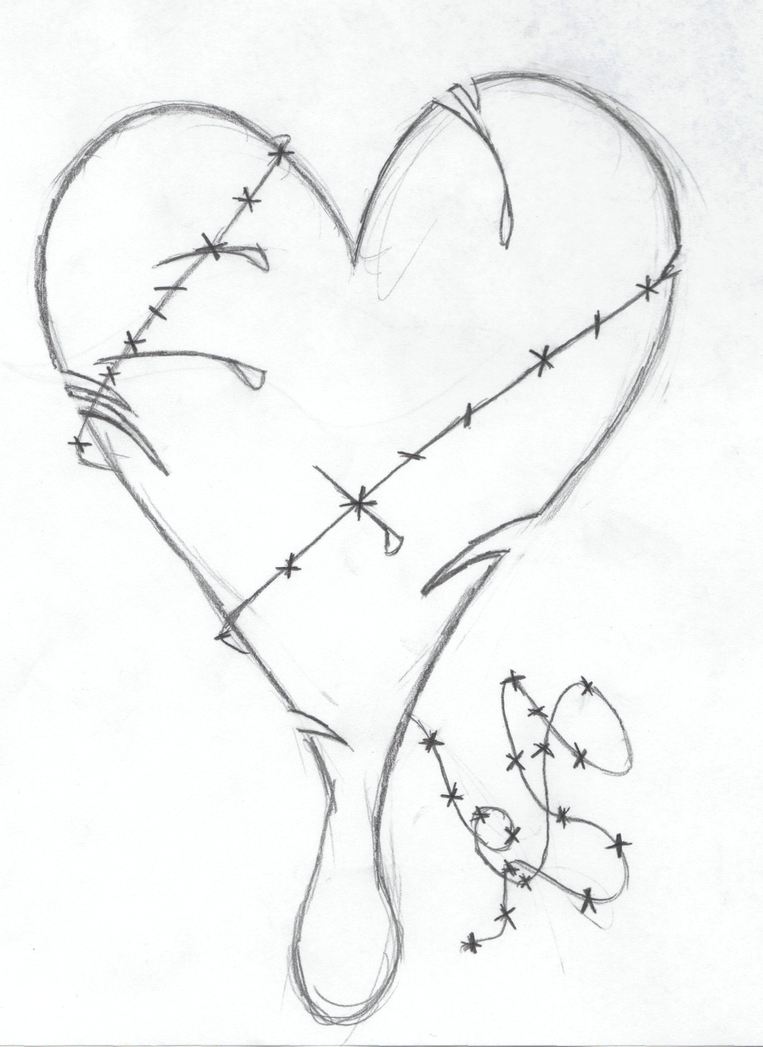 Simple Heart Line Art : Drawings of broken hearts emo car interior design