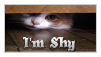I'm Shy Stamp by MaskyCat