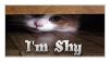 I'm Shy Stamp by MaskyCat