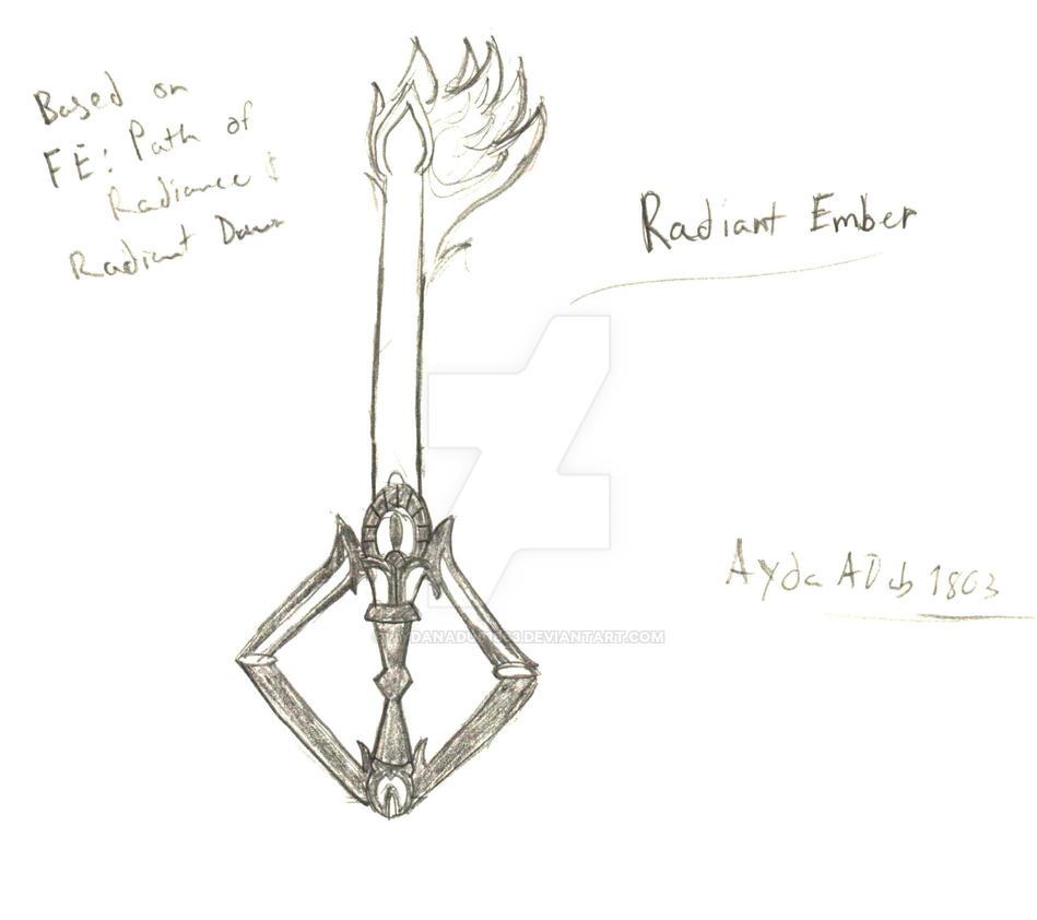 Radiant Embers Keyblade by AydanADub1863