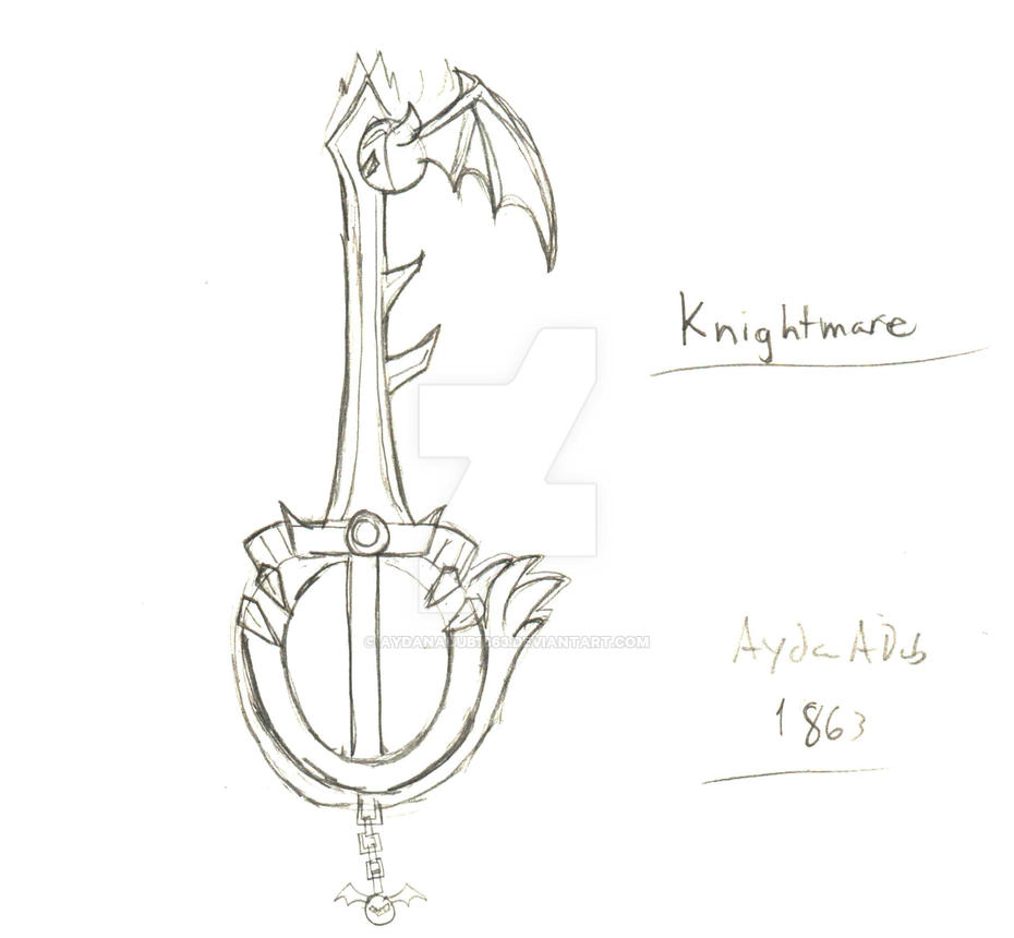 Knightmare Keyblade by AydanADub1863