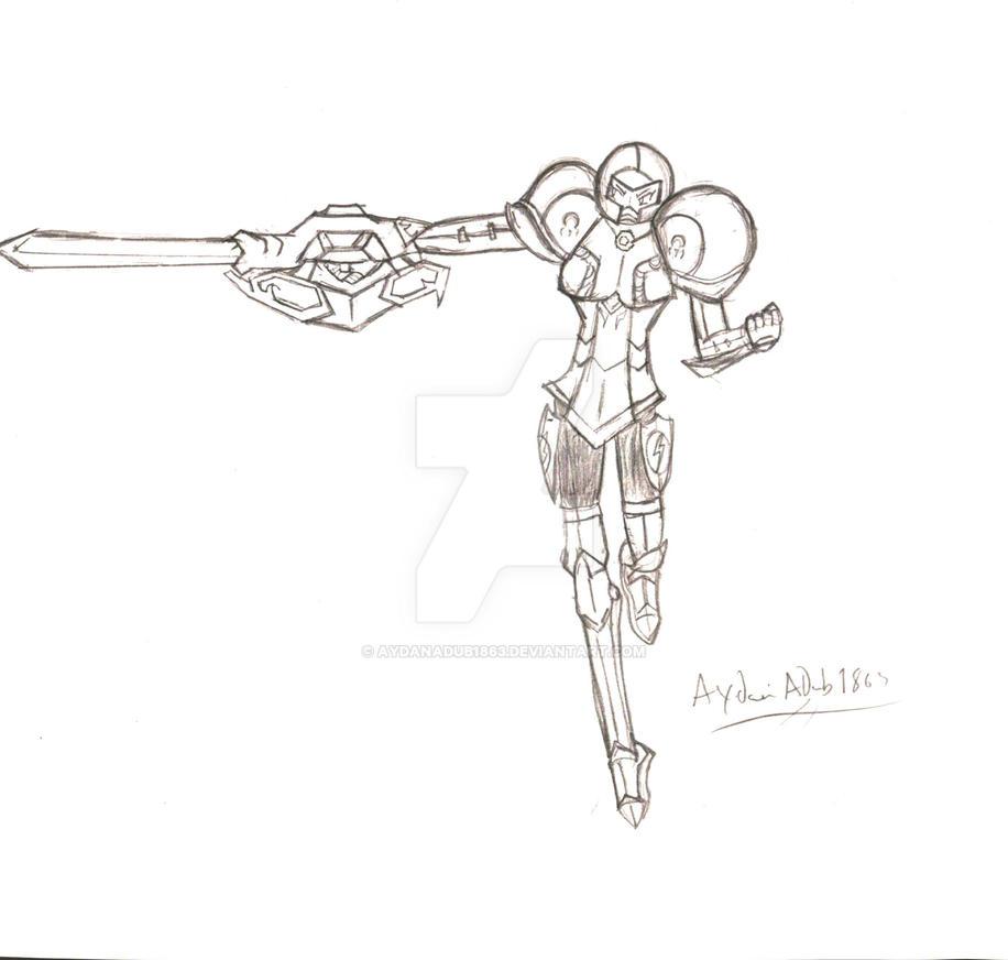 FE X Smash Samus Knight Class by AydanADub1863