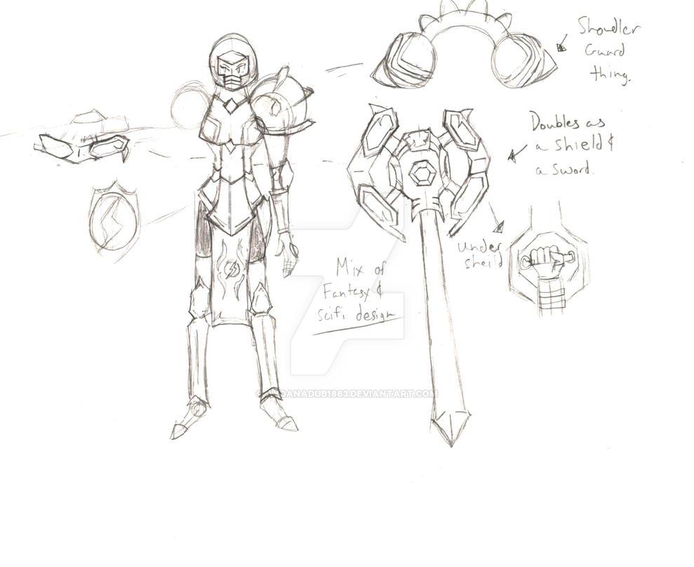Samus Knight concept by AydanADub1863