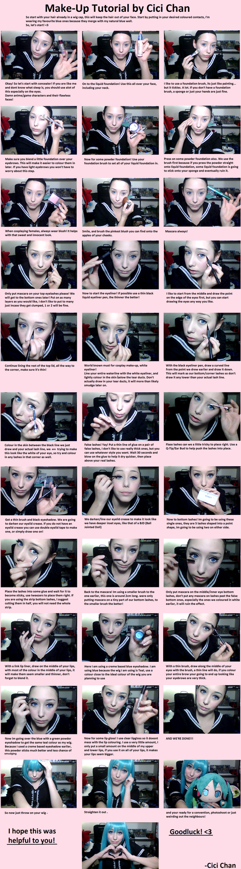 Cosplay make-up tutorial by CiCi-Chan01