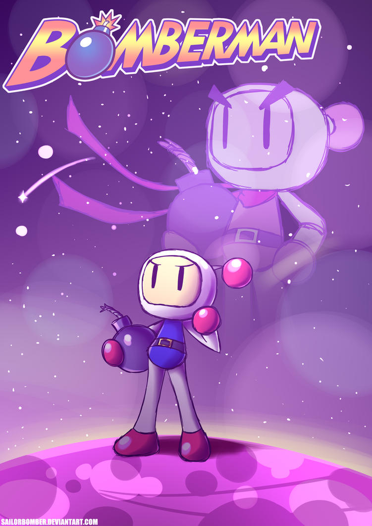 The legend lives in me - Bomberman SpeedPaint by SailorBomber