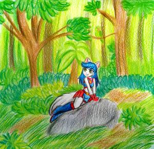 Tomoko in nature