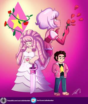 Pink, Rose Quartz and Steven
