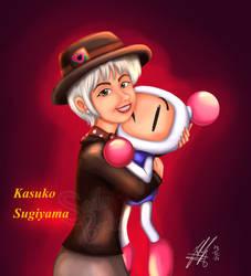 Kazuko Sugiyama and Bomberman