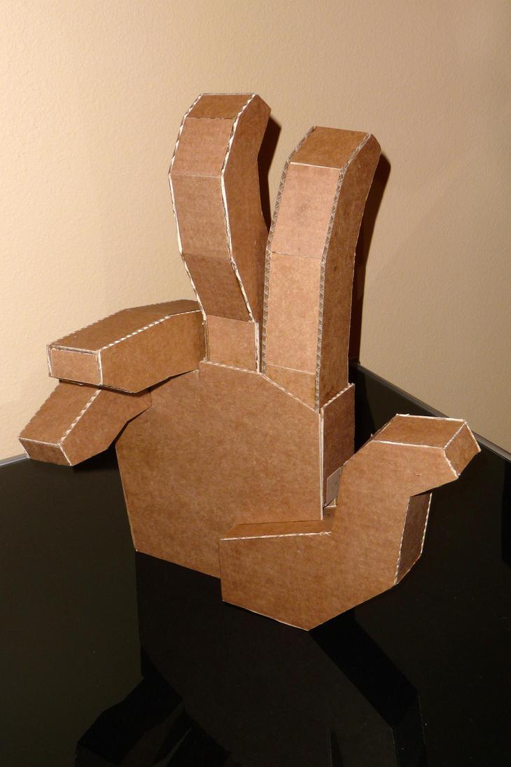 Cardboard hand by platinumraven on deviantart for 3 foot cardboard letters