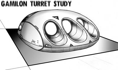 Gamilion Turret Gun Study by TorinZece