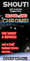 Banner #003 :: Shout Save Blood and Chrome