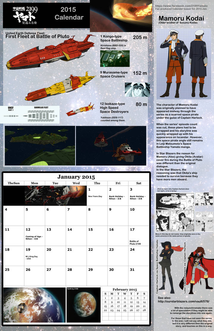 B: JAN  2015: Space Battleship Yamato 2199 by TorinZece