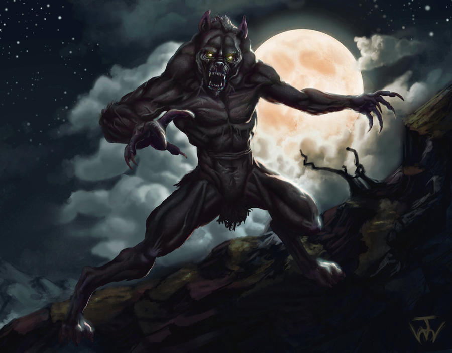 Scary werewolf drawings - photo#27