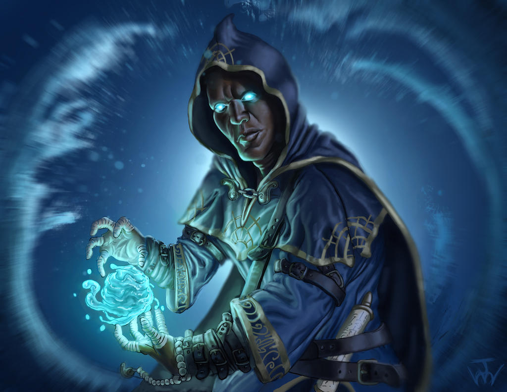 Water Mage by johnnymorrow