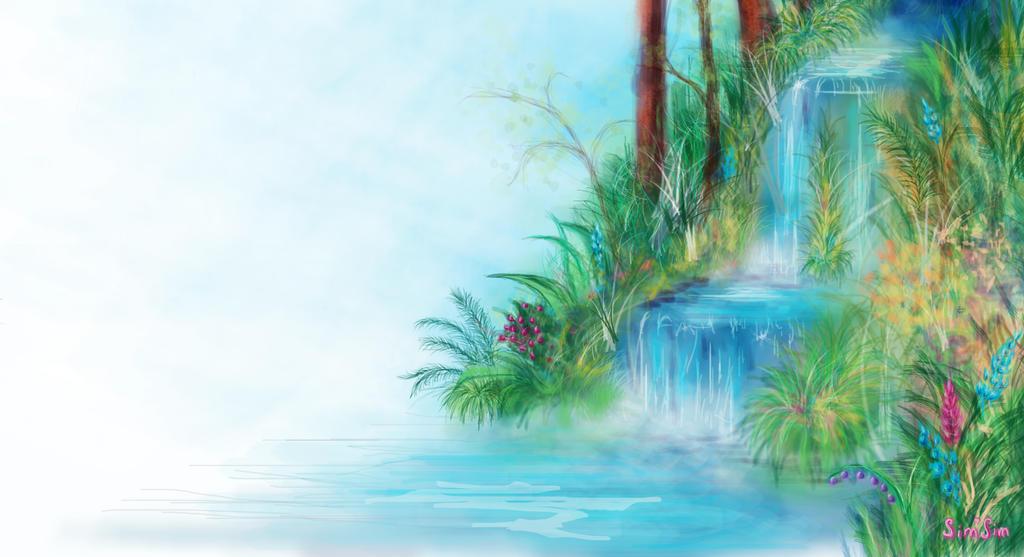 quick draw of waterfall -#main