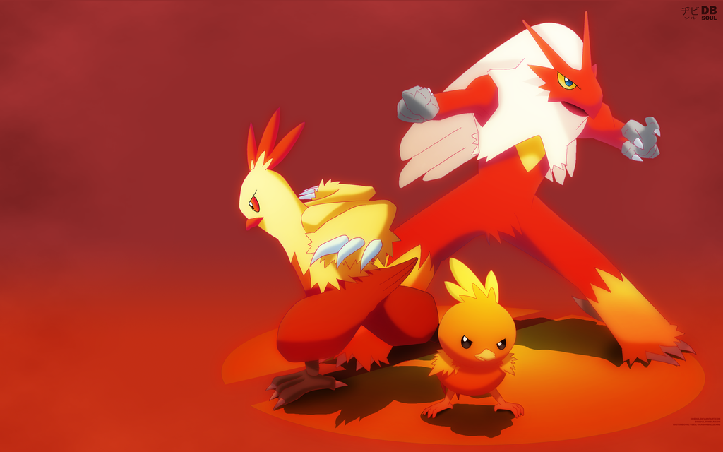 Hoenn's Fire Starters |Wallpaper| by OnlyNura on DeviantArt