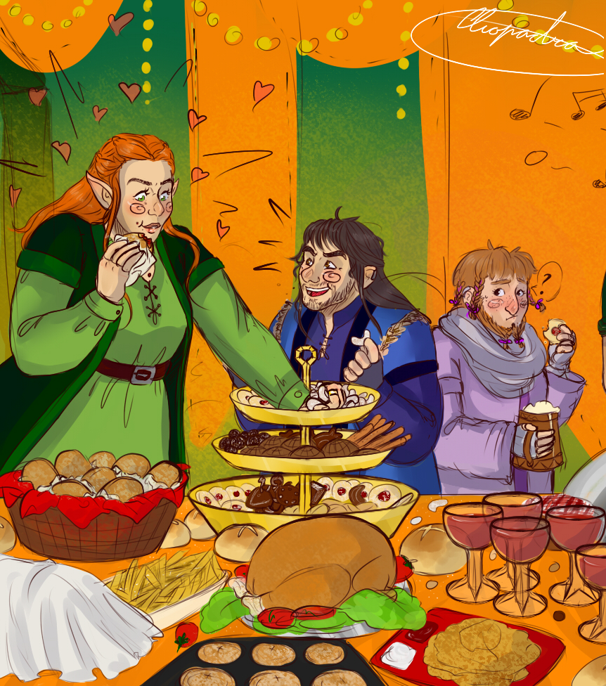 Tauriel's first winter solstice by Cliopadra
