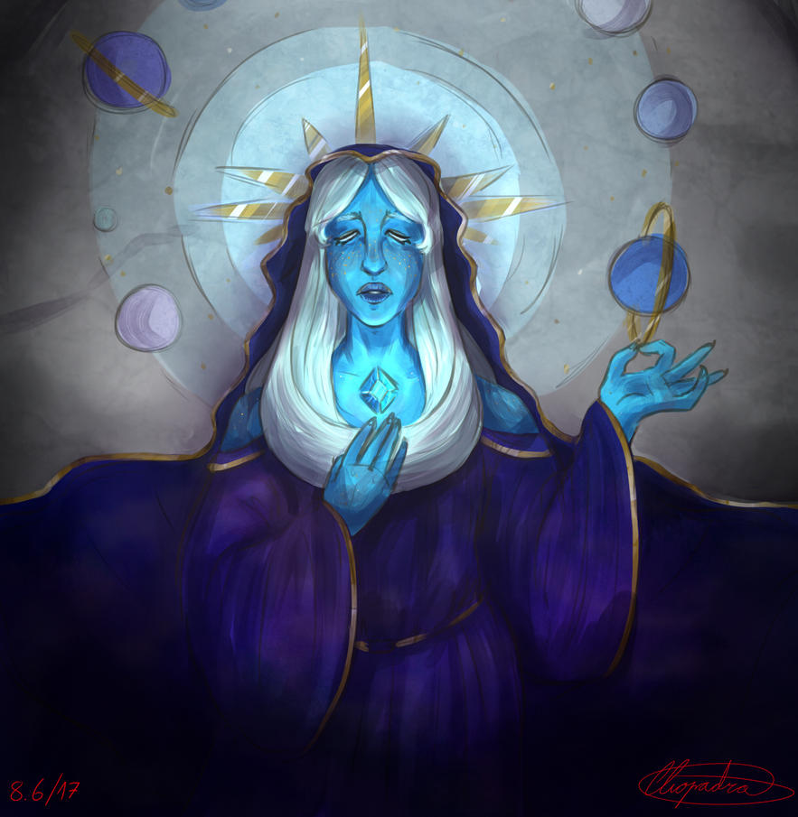 I came back from school and i was really in the mood to draw blue diamond, for some reason.