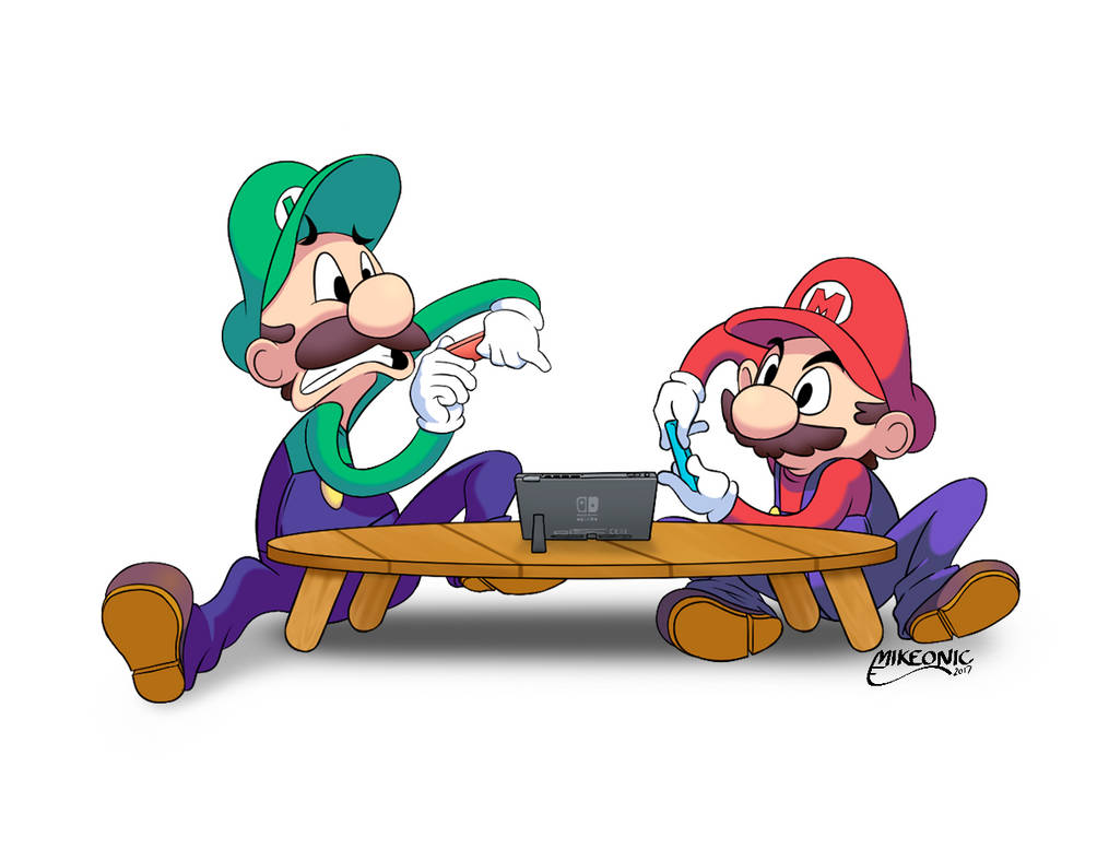 Mario and Luigi - Nintendo Switch by Mikeonic
