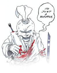 Bloodied Usagi by PowderAkaCaseyJones
