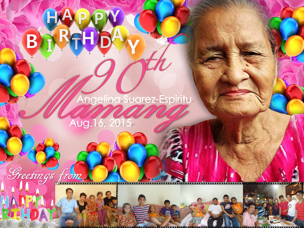 Lola's 90th Birthday Tarpaulin by thearianway