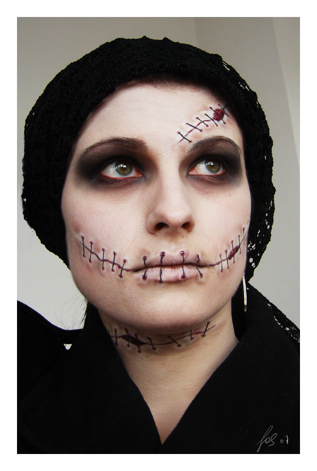 Halloween Make Up part 2 by LeafOfSteel on DeviantArt - Make Up De Halloween