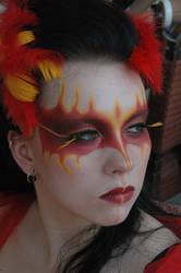 Phoenix make-up by LeafOfSteel