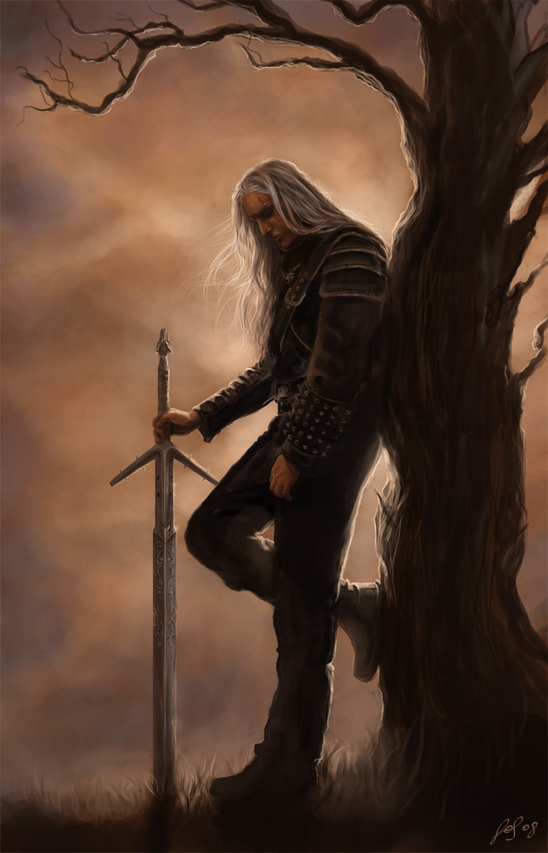 The Pensive Witcher by LeafOfSteel