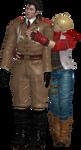 Leo hugs Dragunov by Bellaura