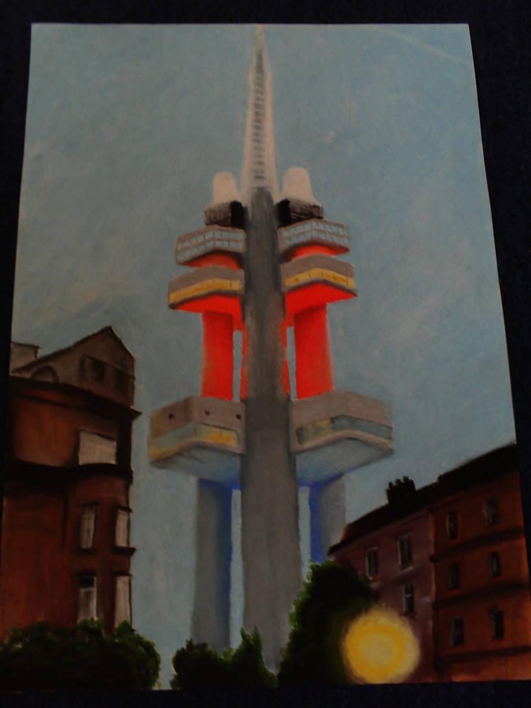 Zizkov tower by MILOSLAVvonRANDA