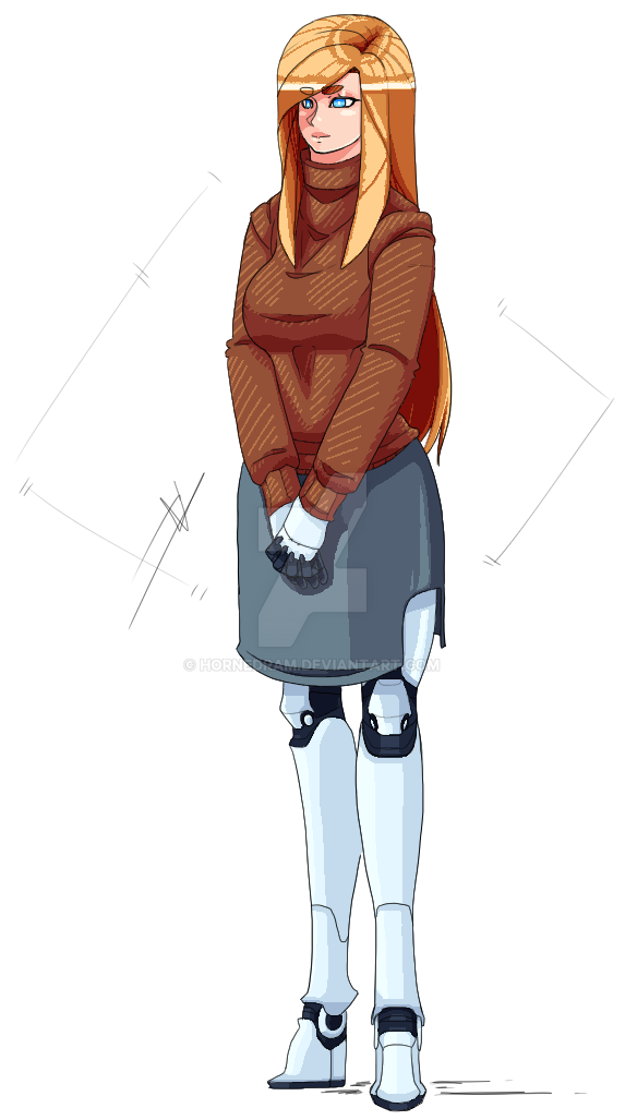 Woman with robotic limbs by HornedRam on DeviantArt