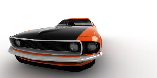 Ford Mustang Boss 302_2 by aldo3d