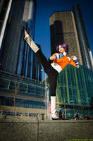 Yoruichi Cosplay High Kick by the-mirror-melts