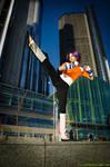 Yoruichi Cosplay High Kick