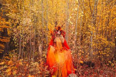 Fall Foliage - Sawsbuck by the-mirror-melts