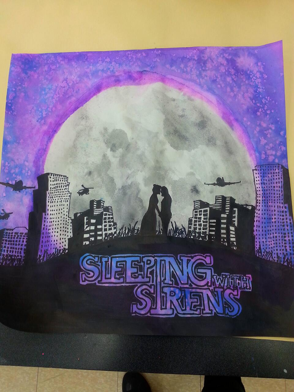 Sleeping with sirens water color by schizoblizt on deviantart for Sleeping with sirens coloring pages